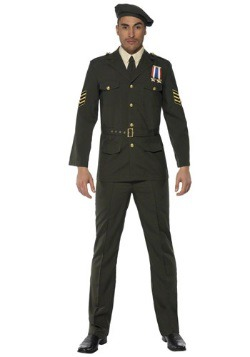 Mens Wartime Officer Costume