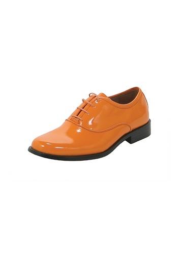 Orange Tuxedo Shoes
