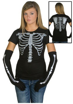 Womens Skeleton Costume T-Shirt