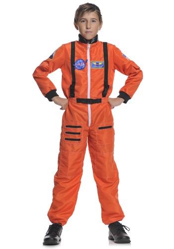 Child Orange Astronaut Costume