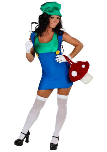 Plus Size Sexy Green Plumber Costume