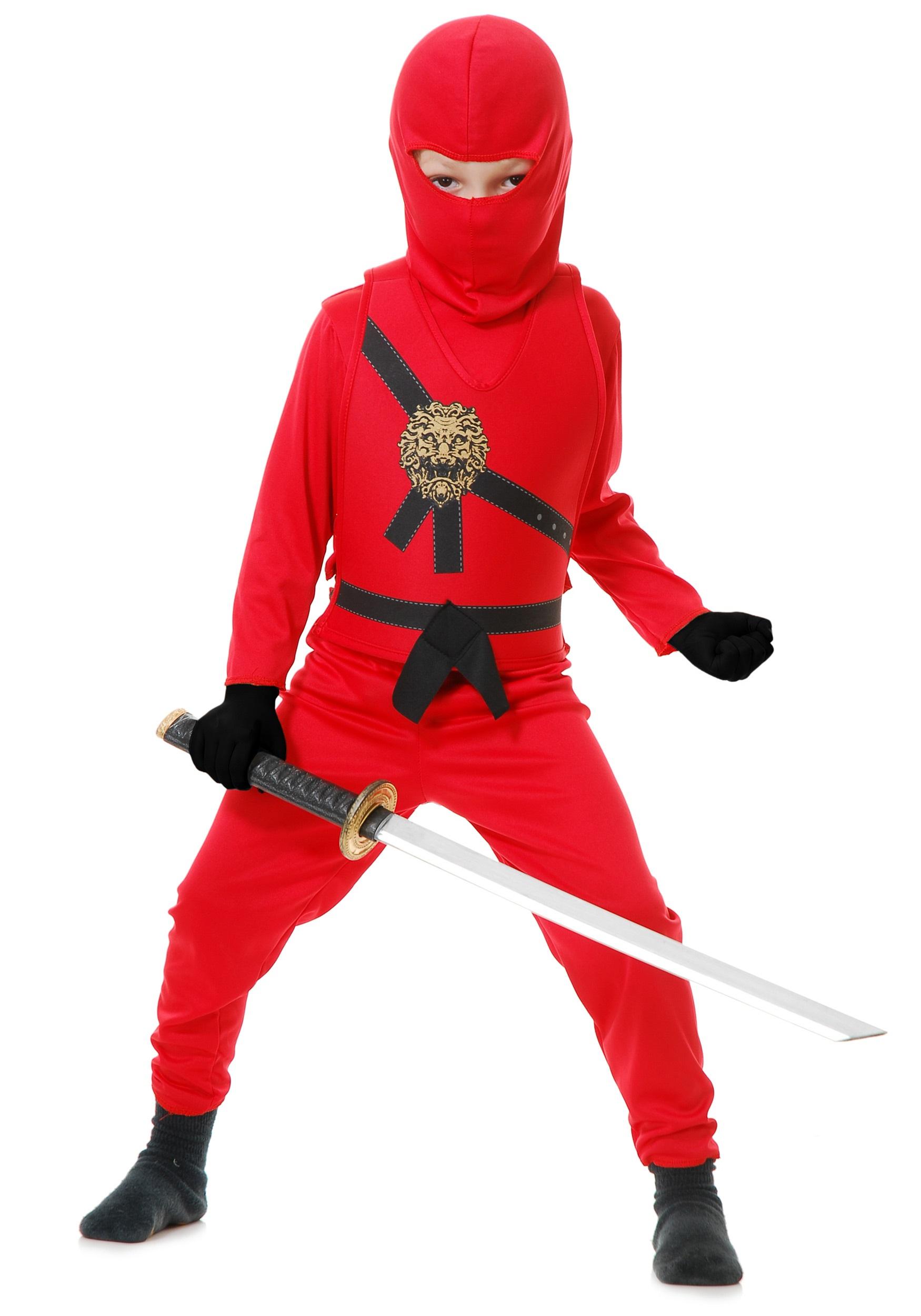 sc 1 st  Halloween Costumes UK & Child Red Ninja Master Costume