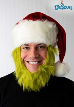 Grinch Hat with Fur Beard1-1