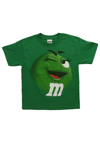 Kids Green M&M Jumbo T-Shirt