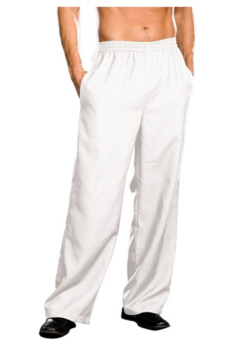 Plus Size Mens White Pants