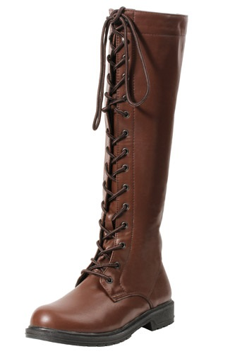 Womens Brown Lace Up Boots