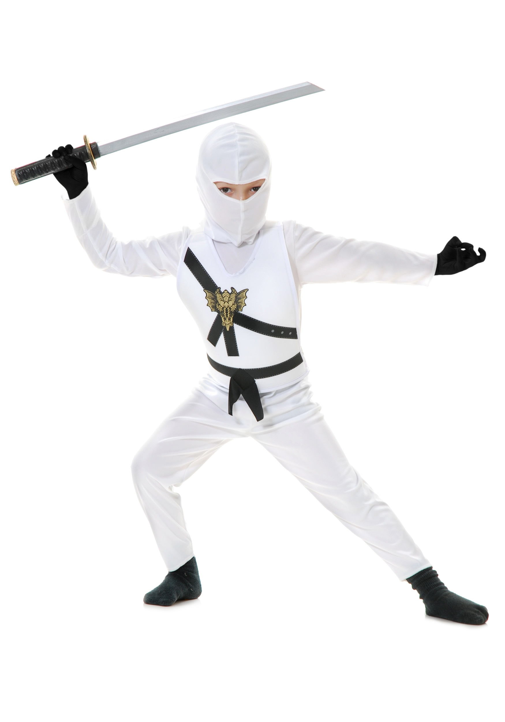 sc 1 st  Halloween Costumes UK & White Child Ninja Costume