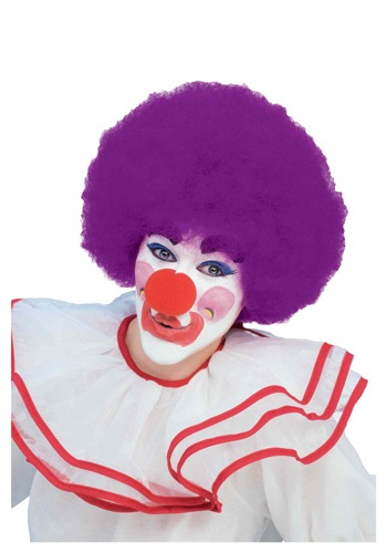 Purple Afro Clown Wig