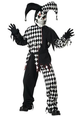 Kids Dark Jester Costume