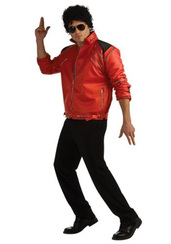 Adult Beat It Deluxe Red Zipper Jacket