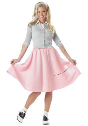 Adult Pink Poodle Skirt