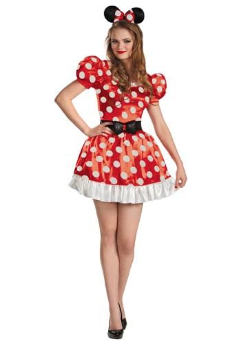 Red Minnie Classic Adult Costume
