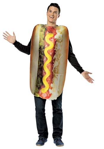 Adult Get Real Loaded Hot Dog Costume