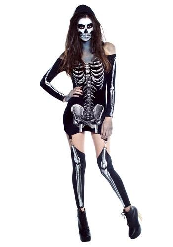 Womens X-Rayed Skeleton Dress Costume