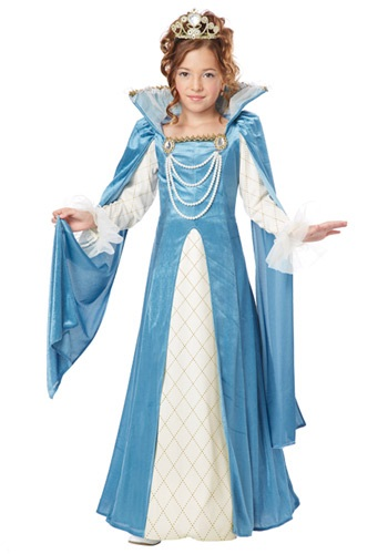 Girls Renaissance Queen Costume