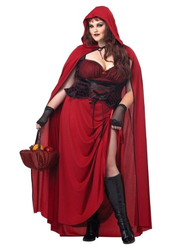 Plus Size Dark Red Riding Hood Update1