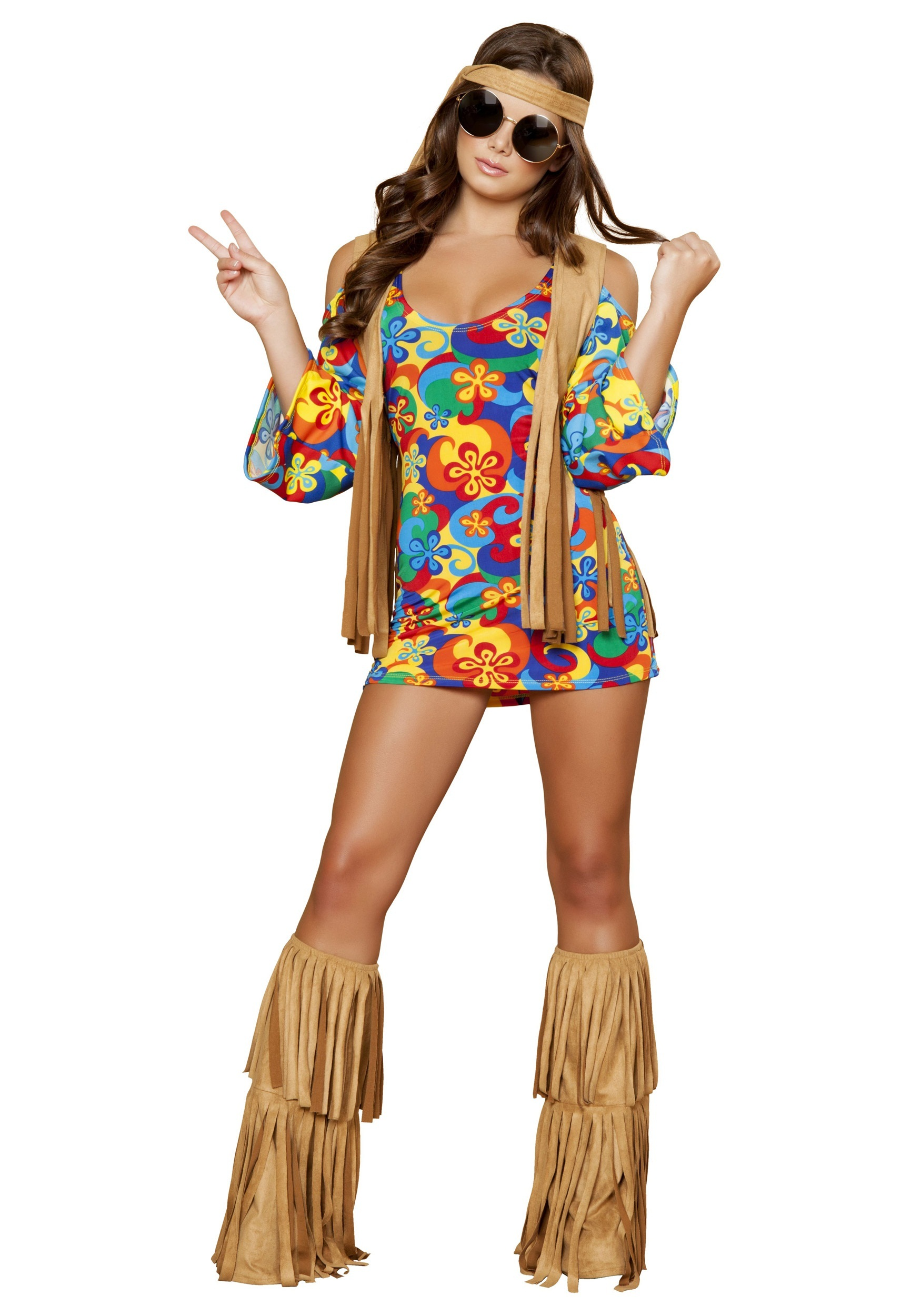 Plus Size Womens Hippie Hottie Costume