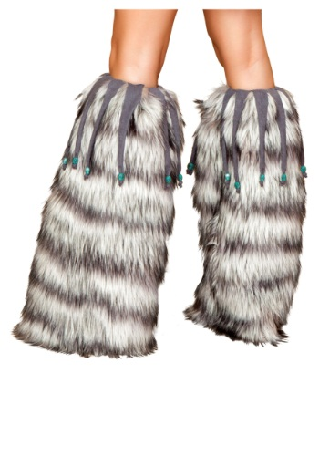 Fur Leg Warmers with Beads