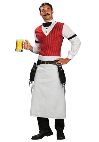 Plus Size Saloon Bartender Costume