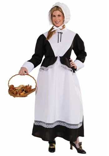 Plus Size Pilgrim Woman Costume