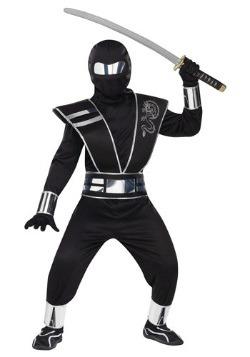 Child Silver Mirror Ninja Costume