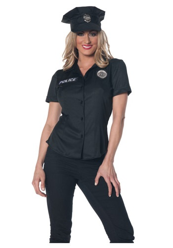 Womens Plus Size Police Shirt