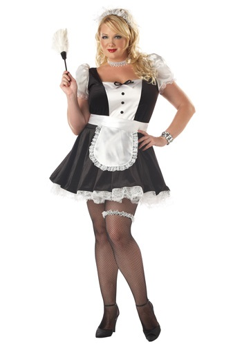 Plus Size Fiona the French Maid Costume