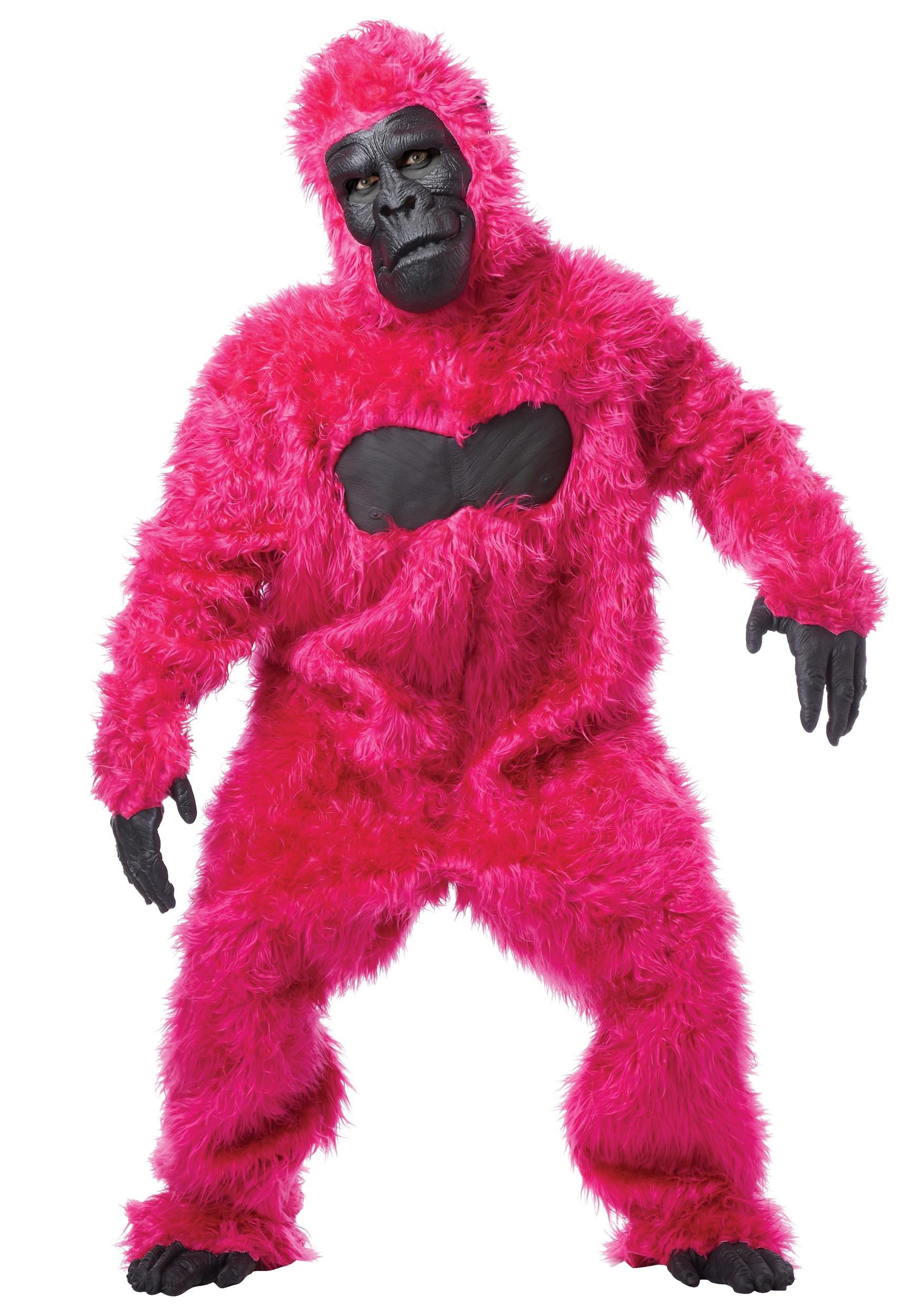 Deluxe Gorilla Suit Costume Adult Jungle Monkey Animal Halloween Fancy Dress