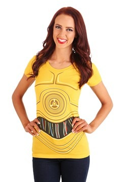 Womens Star Wars C3PO Costume T-Shirt