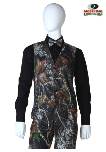 Mossy Oak Open Back Vest Front