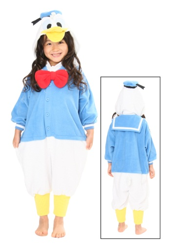 Kids Daffy Duck Pajama Costume Front