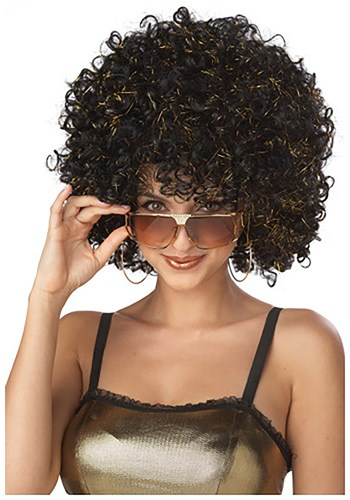 Black and Gold Disco Wig