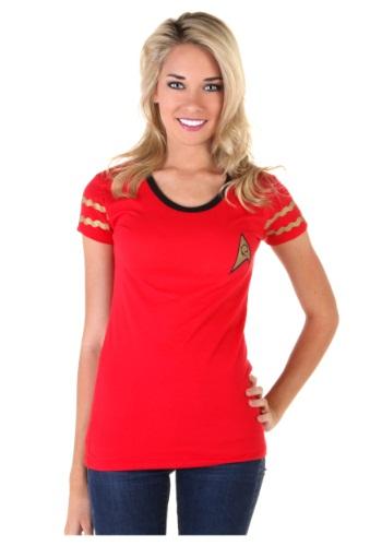Womens Star Trek Starfleet Red Costume T-Shirt