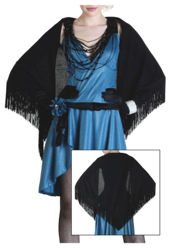 Womens Flapper Shawl Front