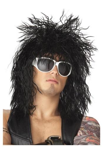 Black Rocker Dude Wig