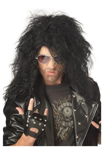 Black Heavy Metal Wig