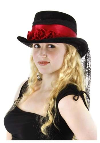 Gothic Rose Top Hat