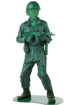 Child Green Army Man Costume
