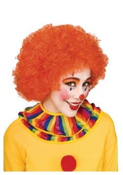 Orange Afro Clown Wig