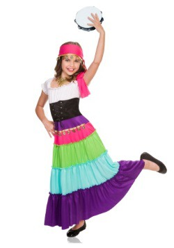Girls Renaissance Fortune Teller Costume