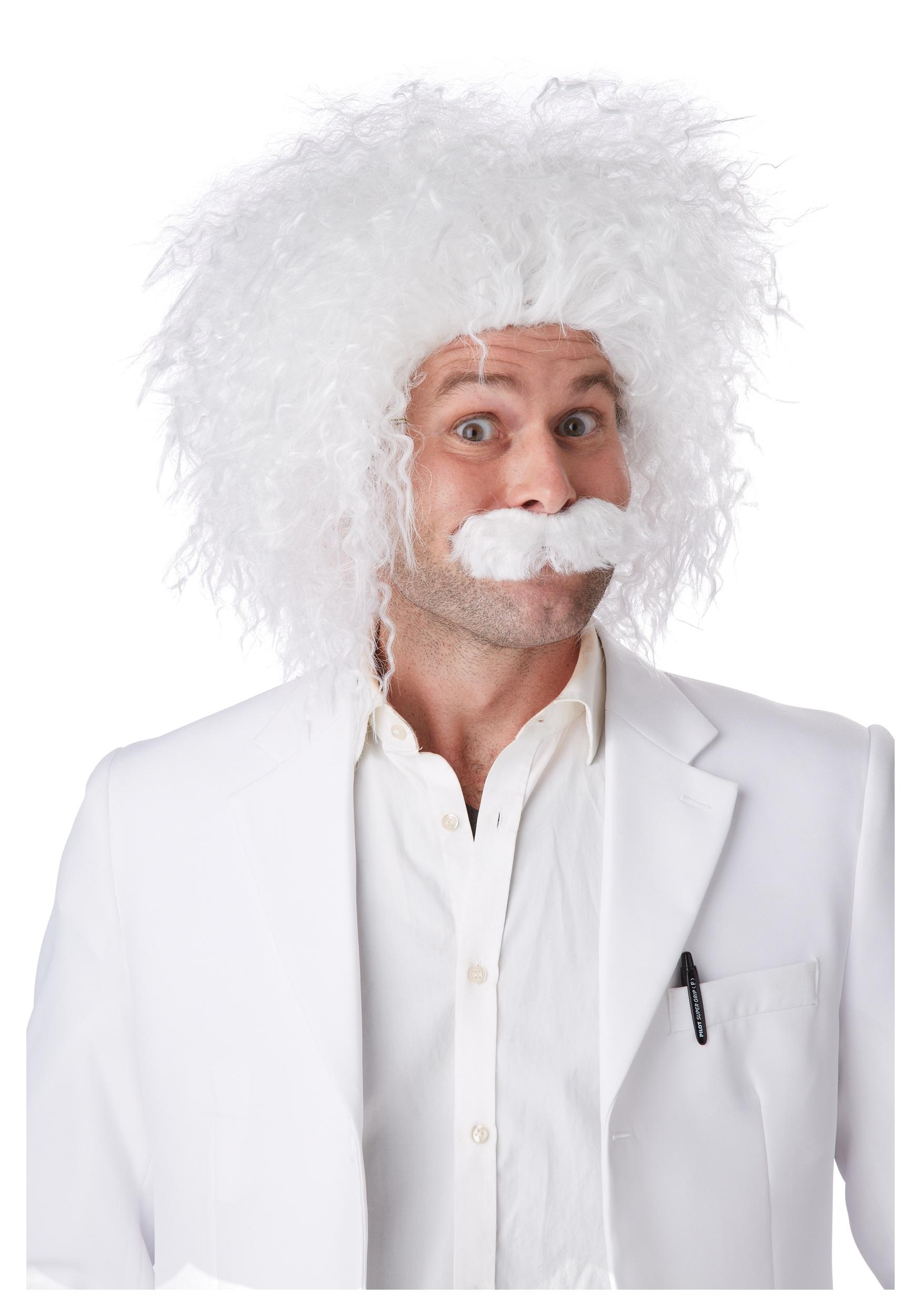 E=MC2 Wig & Mustache