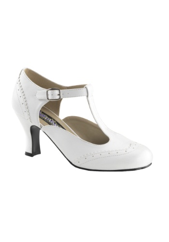 White Flapper Shoes