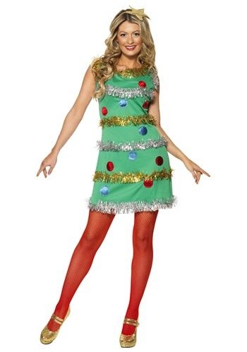 Women's Christmas Tree Costume Dress