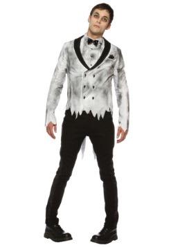 Mens Plus Size Zombie Groom Costume