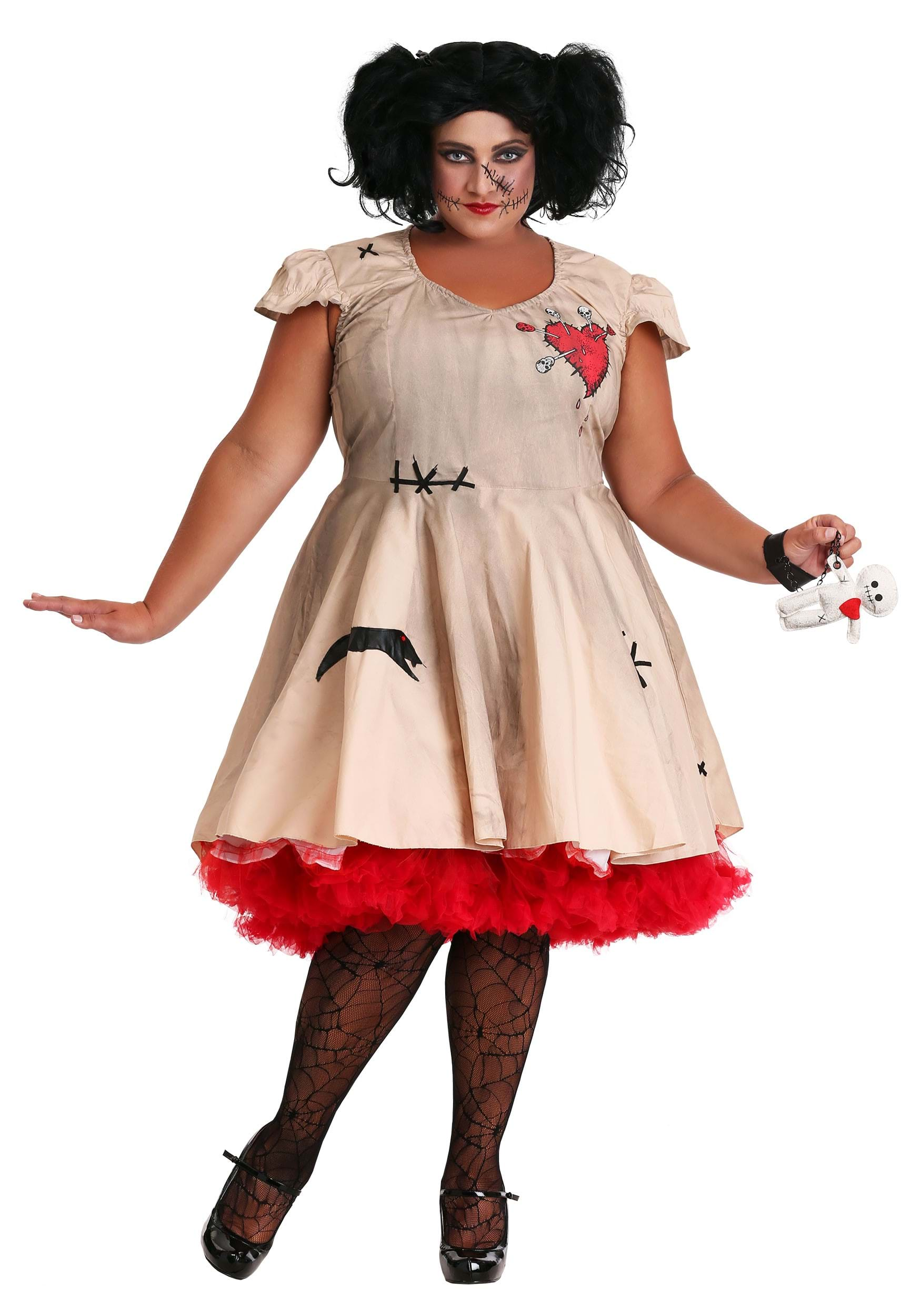 6e766bfb0e2da Womenu0027s Plus Size Voodoo Doll Costume Sc 1 St Halloween Costumes UK