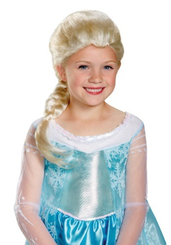 Girls Frozen Elsa Wig