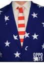 Mens Stars and Stripes Suit Close-Up