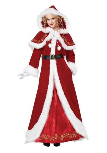 Deluxe Classic Mrs. Claus Costume