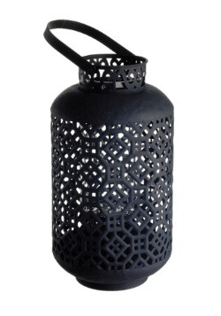 Metal Lantern with Glass Candle Holder