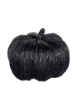 6.5 inch Black Glittered Pumpkin